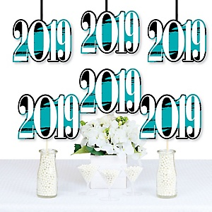 Teal Grad - Best is Yet to Come - 2019 Decorations DIY Teal Graduation Party Essentials - Set of 20