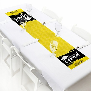 Yellow Grad - Best is Yet to Come  - Personalized Graduation Party Petite Table Runner