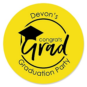 Yellow Grad - Best is Yet to Come - Personalized Graduation Sticker Labels - 24 ct