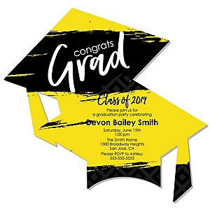 Yellow Grad - Best is Yet to Come - Personalized 2019 Graduation Invitations - Set of 12