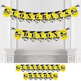 Yellow Grad - Best is Yet to Come - Personalized 2020 Graduation Party Bunting Banner & Decorations