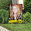 Yellow Grad - Best is Yet to Come - Photo Yard Sign - Yellow 2018 Graduation Party Decorations