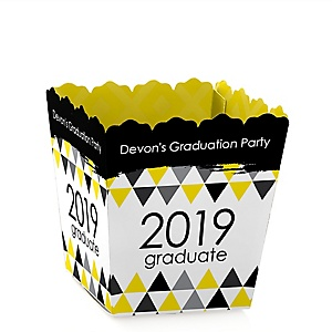 Yellow Grad - Best is Yet to Come - Party Mini Favor Boxes - Personalized 2019 Graduation Treat Candy Boxes - Set of 12