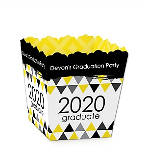 Yellow Grad - Best is Yet to Come - Party Mini Favor Boxes - Personalized 2020 Graduation Treat Candy Boxes - Set of 12