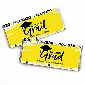 Yellow Grad - Best is Yet to Come - Personalized 2020 Candy Bar Wrappers Graduation Party Favors - Set of 24