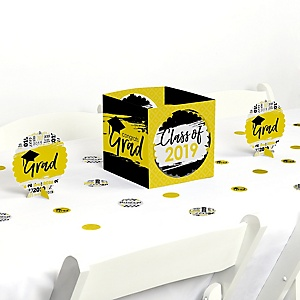 Yellow Grad - Best is Yet to Come - 2019 Graduation Party Centerpiece & Table Decoration Kit