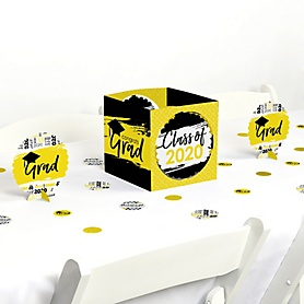 Yellow Grad - Best is Yet to Come - 2020 Graduation Party Centerpiece & Table Decoration Kit