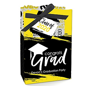 Yellow Grad - Best is Yet to Come - Personalized 2020 Graduation Favor Boxes - Set of 12