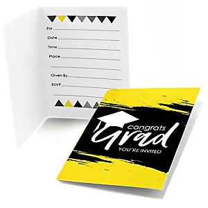 Yellow Grad - Best is Yet to Come - Graduation Party Fill In Invitations - 8 ct