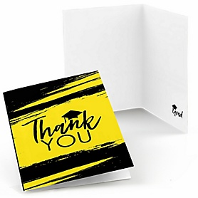 Yellow Grad - Best is Yet to Come - Graduation Party Thank You Cards - 8 ct