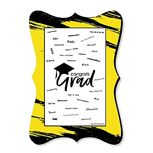 Yellow Grad - Best is Yet to Come - Unique Alternative Guest Book - Graduation Party Signature Mat