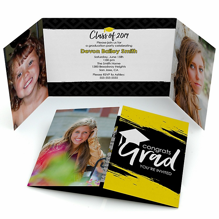 Yellow Grad - Best is Yet to Come - Personalized Photo 2019 Graduation Invitations - Set of 12