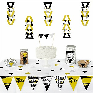 Yellow Grad - Best is Yet to Come -  Triangle Graduation Party Decoration Kit - 72 Piece