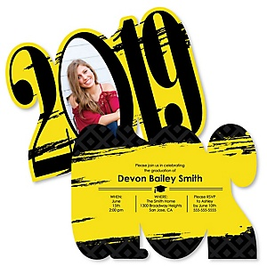 Yellow Grad - Best is Yet to Come - Personalized 2019 Photo Graduation Announcement - Set of 12