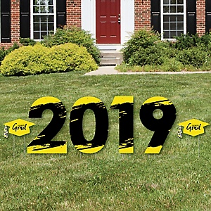 Yellow Grad - Best is Yet to Come - 2019 Yard Sign Outdoor Lawn Decorations - Yellow Graduation Party Yard Signs - 2019