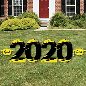 Yellow Grad - Best is Yet to Come - 2020 Yard Sign Outdoor Lawn Decorations - Yellow Graduation Party Yard Signs - 2020