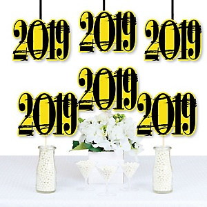 Yellow Grad - Best is Yet to Come - 2019 Decorations DIY Yellow Graduation Party Essentials - Set of 20