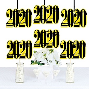 Yellow Grad - Best is Yet to Come - 2020 Decorations DIY Yellow Graduation Party Essentials - Set of 20