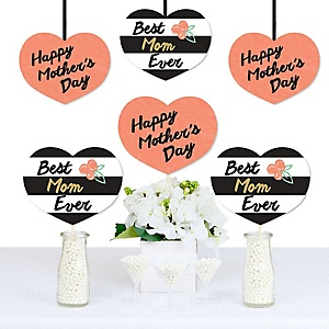 Best Mom Ever - Decorations DIY Mother's Day Party Essentials - Set of 20