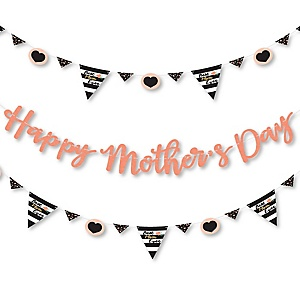 Best Mom Ever - Mother's Day Letter Banner Decoration - 36 Banner Cutouts and Happy Mother's Day Banner Letters