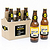 Best Teacher Gift - 6 Teacher Appreciation Gift Beer Bottle Label Stickers and 1 Carrier - Back to School Gifts for Teachers