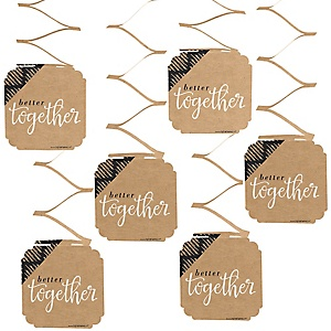 Better Together - Wedding Hanging Decorations - 6 ct