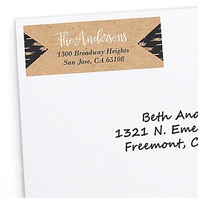 better together personalized wedding return address labels 30 ct