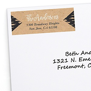 Better Together - Personalized Wedding Return Address Labels - 30 ct