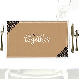 Better Together - Party Table Decorations - Wedding Placemats - Set of 12