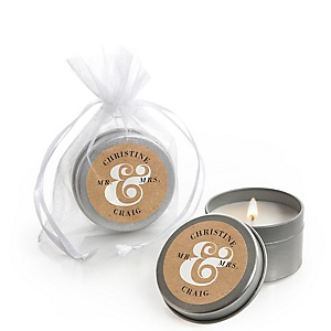 Better Together - Personalized Wedding Candle Tin Favors - Set of 12