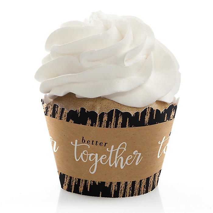 Better Together - Wedding Decorations - Party Cupcake Wrappers - Set of 12
