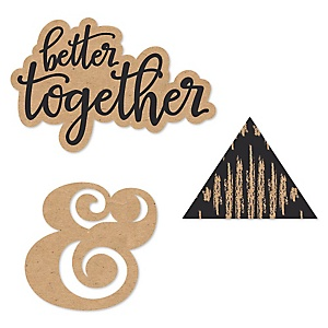 Better Together - DIY Shaped Wedding Paper Cut-Outs - 24 ct