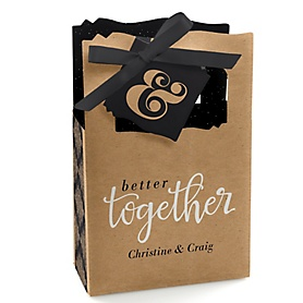 Better Together - Personalized Wedding Favor Boxes - Set of 12