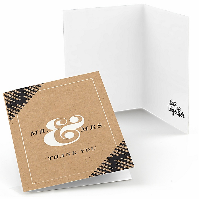 Better Together - Wedding Thank You Cards - 8 ct