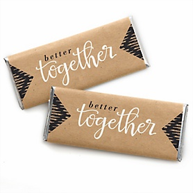 Better Together -  Candy Bar Wrappers Wedding Favors - Set of 24
