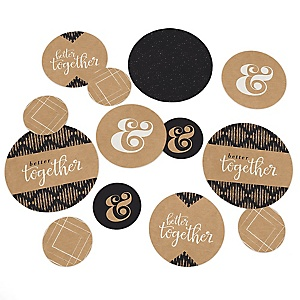 Better Together - Wedding Giant Circle Confetti - Wedding Decorations - Large Confetti 27 Count