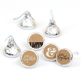 Better Together - Round Candy Labels Wedding Party Favors - Fits Hershey's Kisses - 108 ct