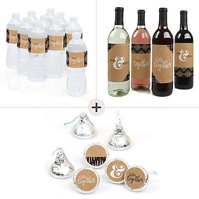 Better Together Wedding Decorations Favors Kit Wine Water And