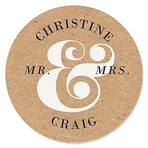 Better Together - Personalized Wedding Sticker Labels - 24 ct