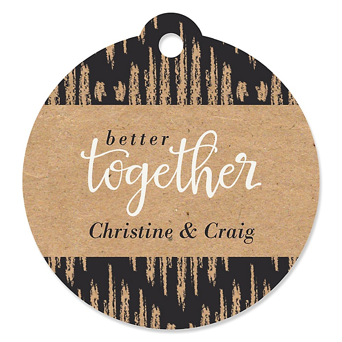 Better Together - Round Personalized Wedding Tags - 20 ct