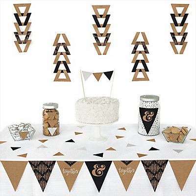 Better together 72 piece triangle wedding decoration kit better together 72 piece triangle wedding decoration kit bigdotofhappiness junglespirit Gallery