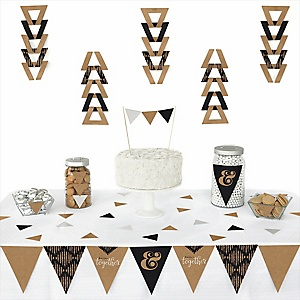Better together wedding theme bigdotofhappiness better together 72 piece triangle wedding decoration kit junglespirit Images