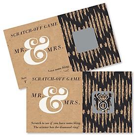 Better Together - Bridal Shower Scratch Off Cards - 22 ct