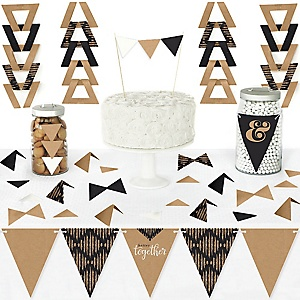 Better Together - DIY Pennant Banner Decorations - Wedding or Bridal Shower Triangle Kit - 99 Pieces