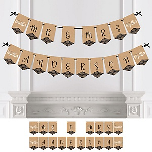 Better Together - Personalized Wedding Bunting Banner & Decorations