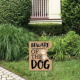 Beware of Dog - Outdoor Lawn Sign - Dog on Premises Yard Sign - 1 Piece
