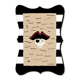Beware of Pirates - Unique Alternative Guest Book - Pirate Birthday Party Signature Mat