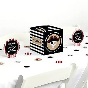 Beware of Pirates - Pirate Birthday Party Centerpiece and Table Decoration Kit