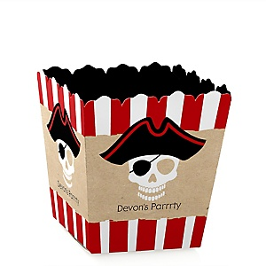 Beware of Pirates - Party Mini Favor Boxes - Personalized Birthday Party Treat Candy Boxes - Set of 12