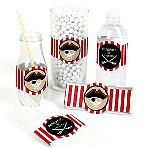 Beware of Pirates - DIY Birthday Party Wrappers - 15 ct